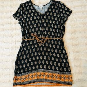 bohemian 21 tunic top with belt